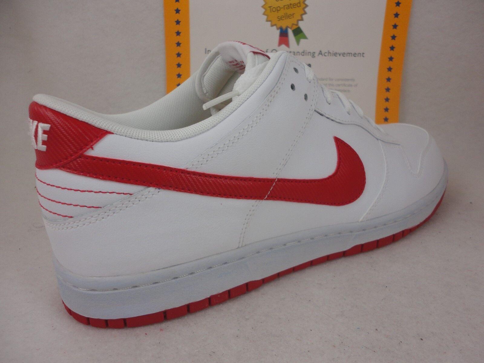 Nike piu 'basso, cuoio, 2012, white / sport rosso, 318019 108, sz 13