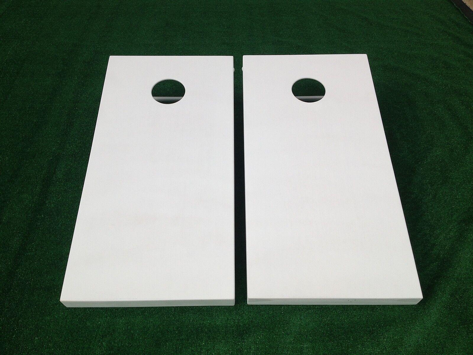 Tremendous White Painted Cornhole Boards Set Bean Bag Toss 8 Aca Pabps2019 Chair Design Images Pabps2019Com