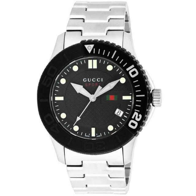 a12ad7bd7 Gucci YA126249 G-Timeless Collection Black Dial Stainless Steel 44mm Men's  Watch