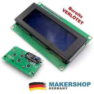 LCD2004 Display + Controller - VERLÖTET I2C Modul Arduino Uno Blau Raspberry Pi