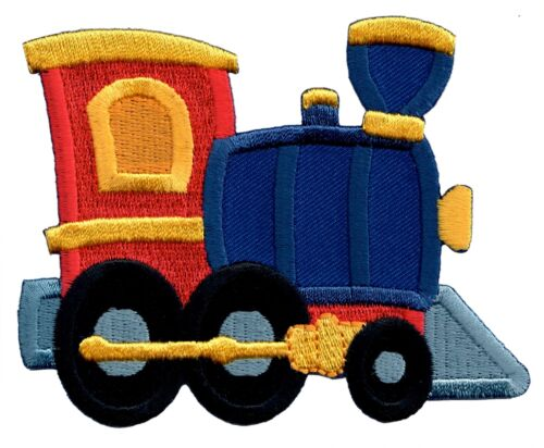 Baby Transportation Train Iron On Patch Embroidered Applique Kids