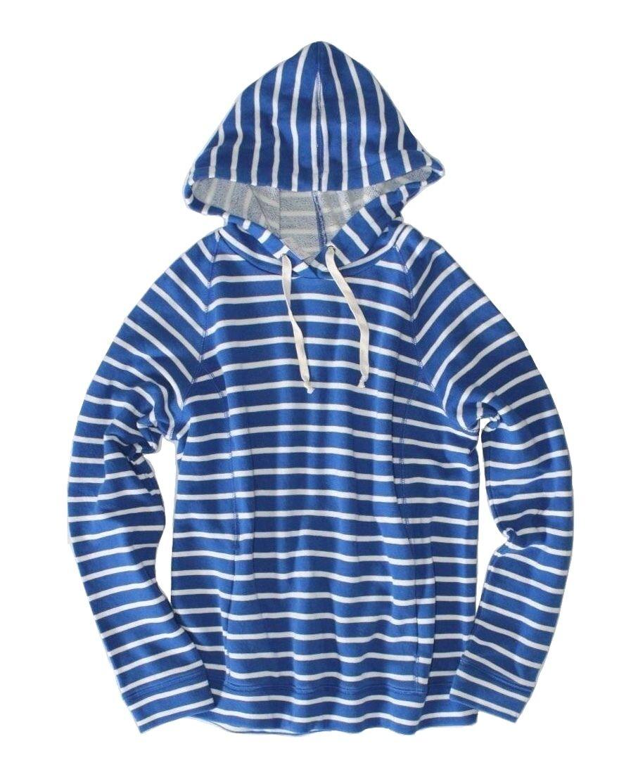 J.Crew J.Crew J.Crew Factory - Women's XS - NWT - bluee White Striped Beach Hoodie Sweatshirt 67c269