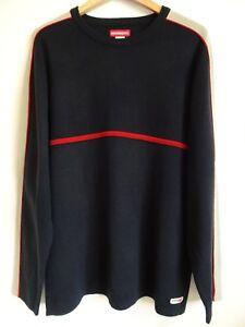 e2ae9e0cc Vtg 90s Unionbay Navy Blue Red Striped Surf Skate Grunge Streetwear ...