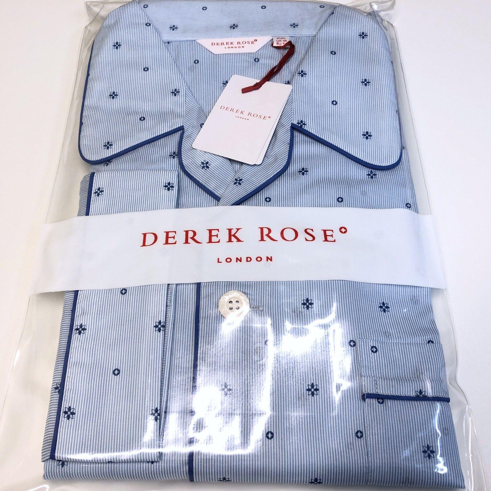 Mens DEREK pink Pyjamas 2XL bluee CLASSIC FIT Luxury Nightwear Pyjama Set
