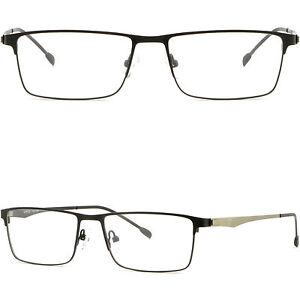3221a089c61b Black Full Rim Thin Light Men Women Titanium Frame Rectangular ...