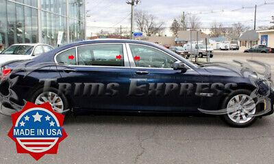 TYGER For 02-08 BMW 7 Series Sedan 6PC Stainless Steel Chrome Pillar Post Trim