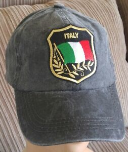 bcb30a63 Image is loading Italian-Flag-Baseball-Cap-Adjustable -Unstructured-Light-Pigmented-