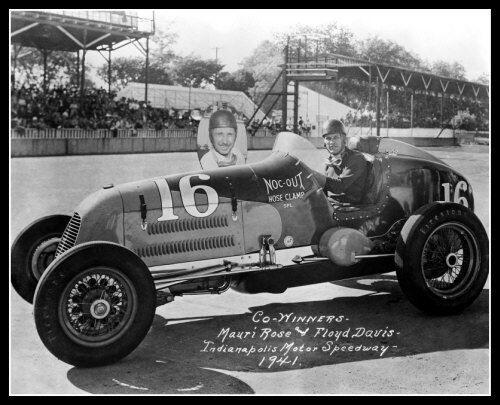 Indy 500 Winners Mauri Rose /& Floyd Davis Photo 8X10 Indianapolis 1941 Race