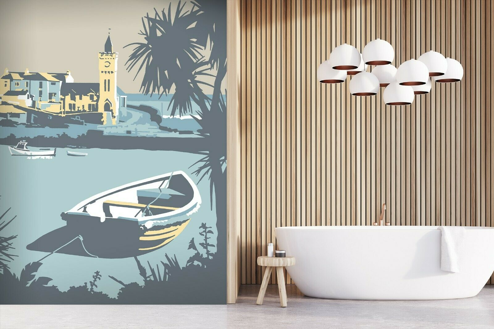 3D Porthleven N342 Wallpaper Wall Mural Removable Self-adhesive Steve Rea Amy