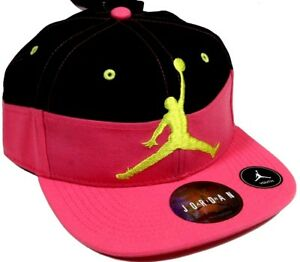 7c5c524f87b852 Youth Nike Jordan Jumpman Black Pink Snap Back Baseball Cap Hat ...
