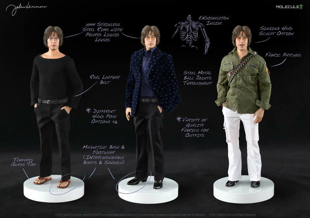 Molecule8 - John Lennon Action Figure 16 - In Stock