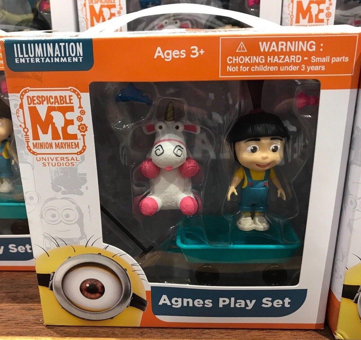 Universal Studios Despicable Me Agnes Figure Play Set Toys & Fluffy Unicorn New