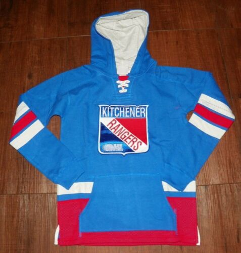 M-10//12 XL-18 Kitchener Rangers Youth Laced Up Primary Hoodie S-8 L-14//16