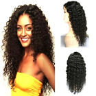 Women Fashion Long Curly Black Wig Full Head Synthetic Hair Lace Front Wigs Hot