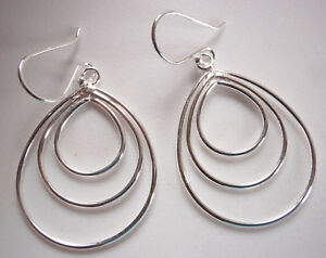 Triple Circles Pendant 925 Sterling Silver Corona Sun Jewelry