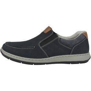 Details zu Rieker Patros Ambor Leinen Schuhe Herren Halbschuhe Antistress Slipper 17360 15