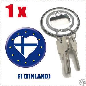 Décapsuleur porte clef Drapeau Europa  Flag FI-(FINLAND)