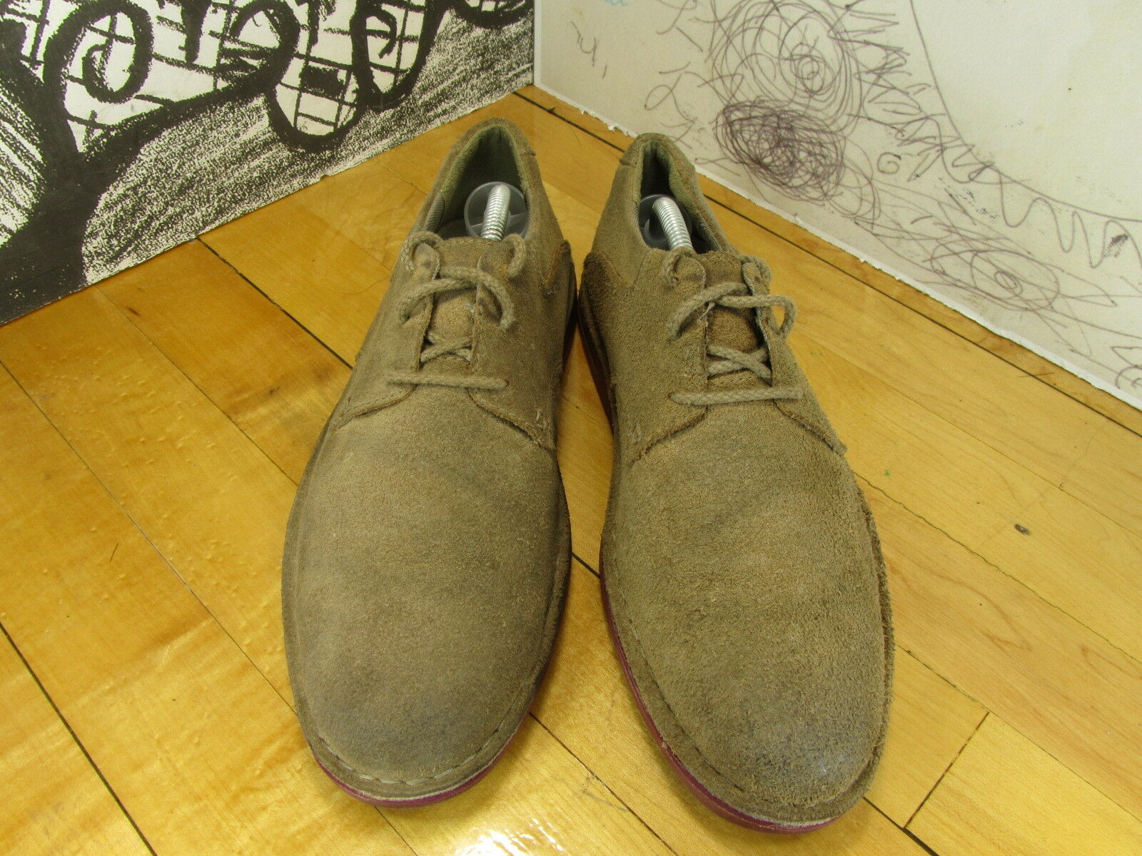 Clarks 8.5M Taupe Suede Oxfords Men's 8.5M Clarks 47f60e