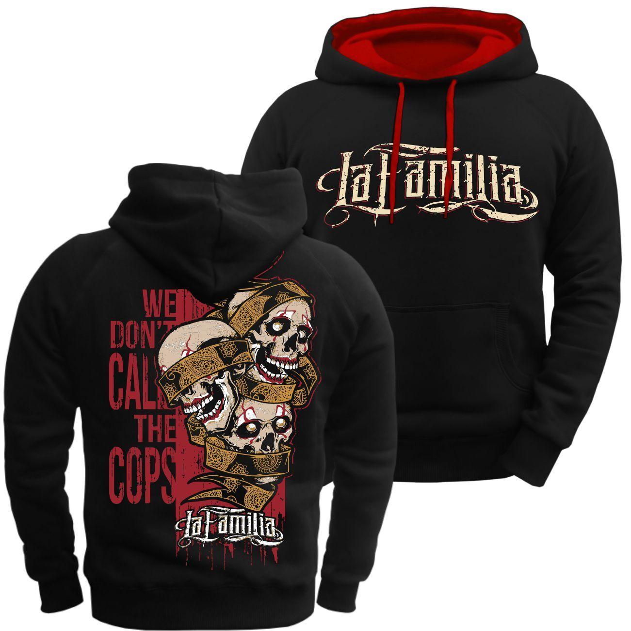 Kapuzenpullover La Familia we dont call the cops Tattoo 31er Kodex Loyal Hoodie