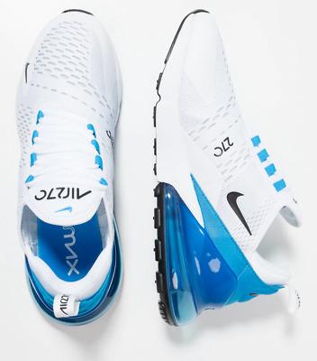 Mens Size 12 Nike Air Max 270 Trainers WhiteBlackPhoto Blue Shoes AH8050 110 | eBay