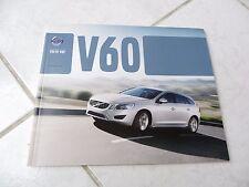 Volvo V60 2013 60 pages catalogue brochure dépliant prospekt catalog commerciale