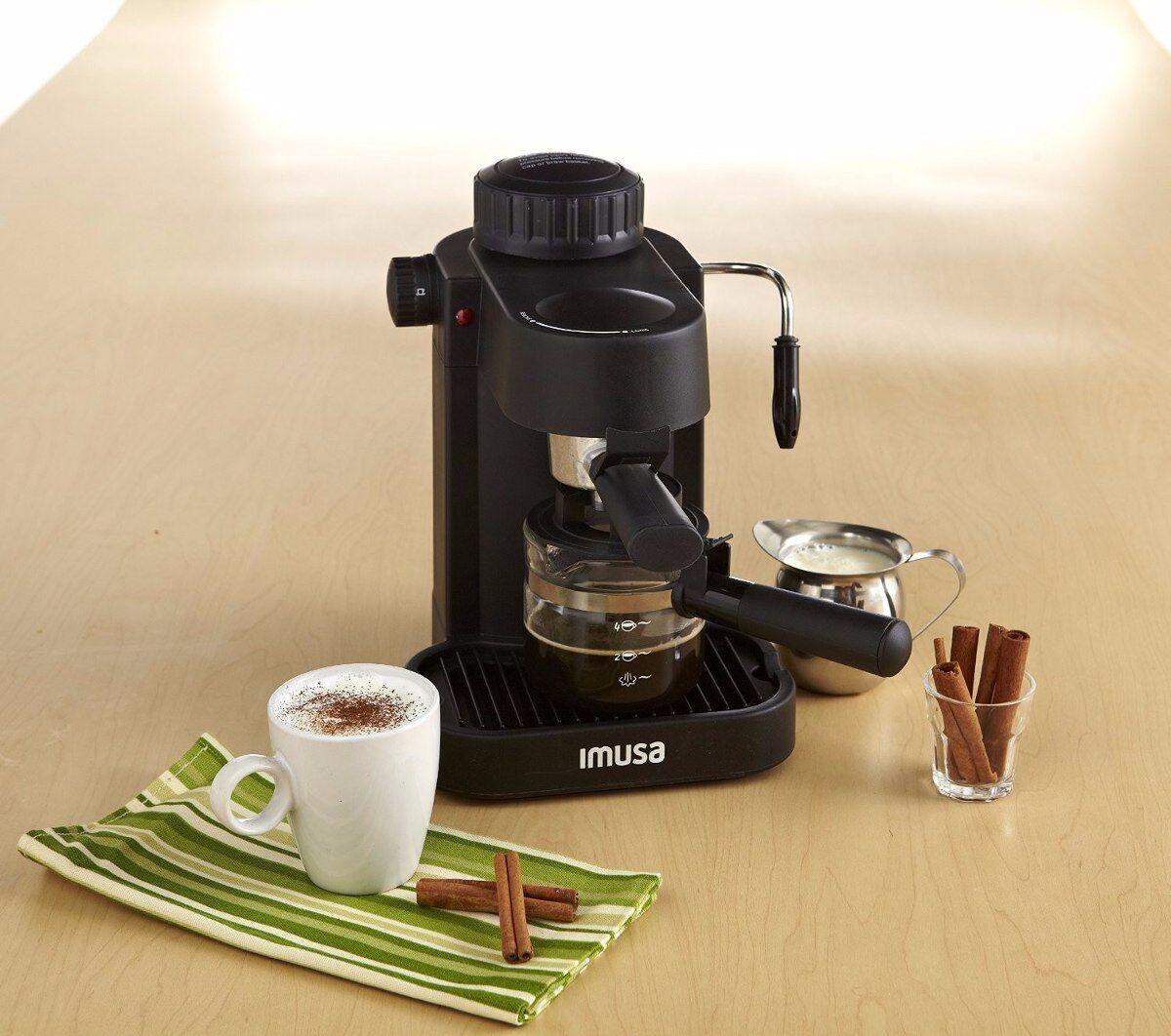 IMUSA, électrique GAU-18200 Espresso & Cappuccino Maker 4-Cup Noir