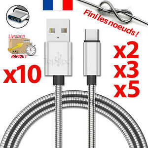 CABLE-USB-TYPE-C-CHARGEUR-POUR-SAMSUNG-GALAXY-S8-S9-PLUS-NOTE-8-METAL-ARGENT