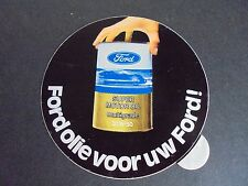 Sticker autocollant : Ford olie voor uw Ford! Super motor oil 20W-50