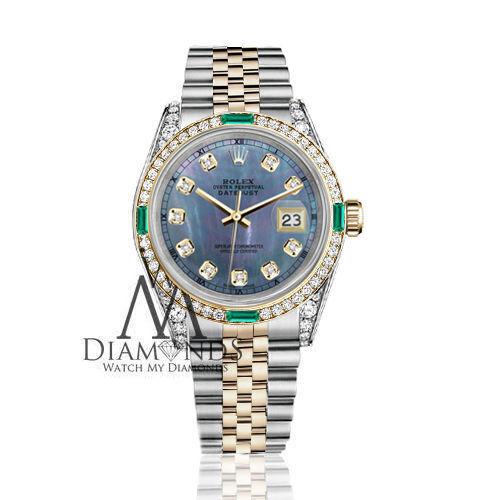 3a45bcaae91 Rolex Steel 18K WQ186889 Gold 10365682 26mm Datejust Reloj Tahitian Pearl  Emerald Diamond JubileeBienvenido a Watch My Diamonds c09b502 -  jitubola.online