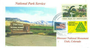 Dinosaurio Nacional Monumento Utah Color Foto Parques Colorado Sello Manual Pm