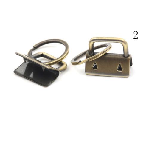 10Pcs 25mm Key Fob Hardware Split Ring For Wrist Wristlets Cotton Tail Clip T/&X