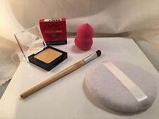 New Ben Nye Banana Creme Compact W/Brush, Sponge & Puff Makeup Kim Kardashian