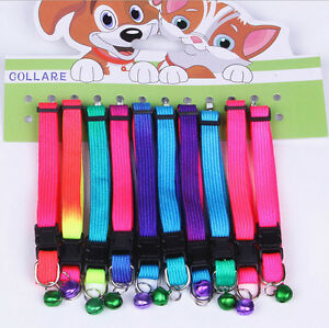 Dogs-Puppy-Cat-Neck-Strap-Lovely-Adjustable-Pet-Collar-Leash-Lead-Flat-Fad