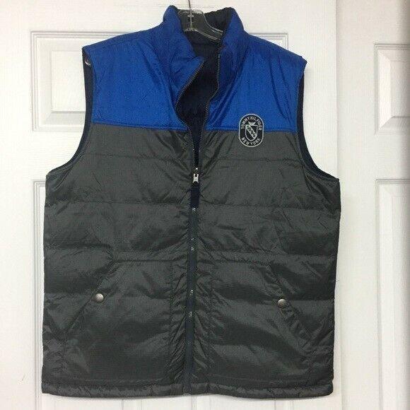 Tommy Hilfiger Puffer Vest Reversible Blue Men's … - image 1