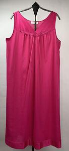 Vtg Vanity Fair Womens Gown Nylon Sleeveless V Neck Pink Size Small
