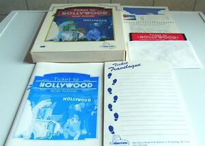 PC DOS: Ticket TO HOLLYWOOD Blue Lion Software 1988