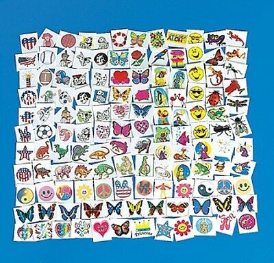 300 PIECE LOT OF ASSORTED KIDS TEMPORARY TATTOOS