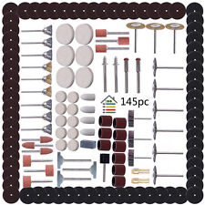 145pcs Rotary Tool Accessory Set for Rotary Grinder Sanding Polishing Grinding