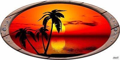 Sun Set Beach #1 RV Trailer or Wall Mural Decal Decals Graphics Sticker Art