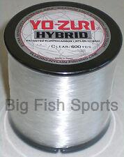 YO-ZURI HYBRID Fluorocarbon Fishing Line 8lb/600yd CLEAR NEW!