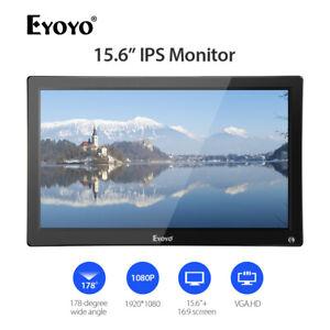 Eyoyo-15-6-034-IPS-HDMI-Monitor-VGA-USB-AV-BNC-Eingang-Doppellautsprechersicheit
