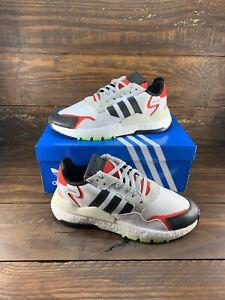 Adidas-Nite-Jogger-Shoes-White-Res-Red-EH1293-Mens-Originals-Shoes-NEW