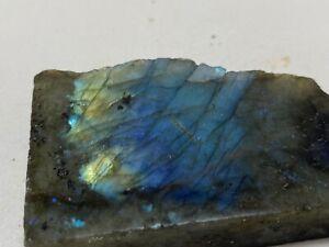 LABRADORITA-Pulida-Labradorite-Polished-Finlandia-MINERAL-COLECCION-7x4x1