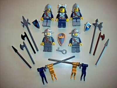 Gold Crown Knights /& Weapons Lego Minifigure Castle Knights Lot P ~  Navy