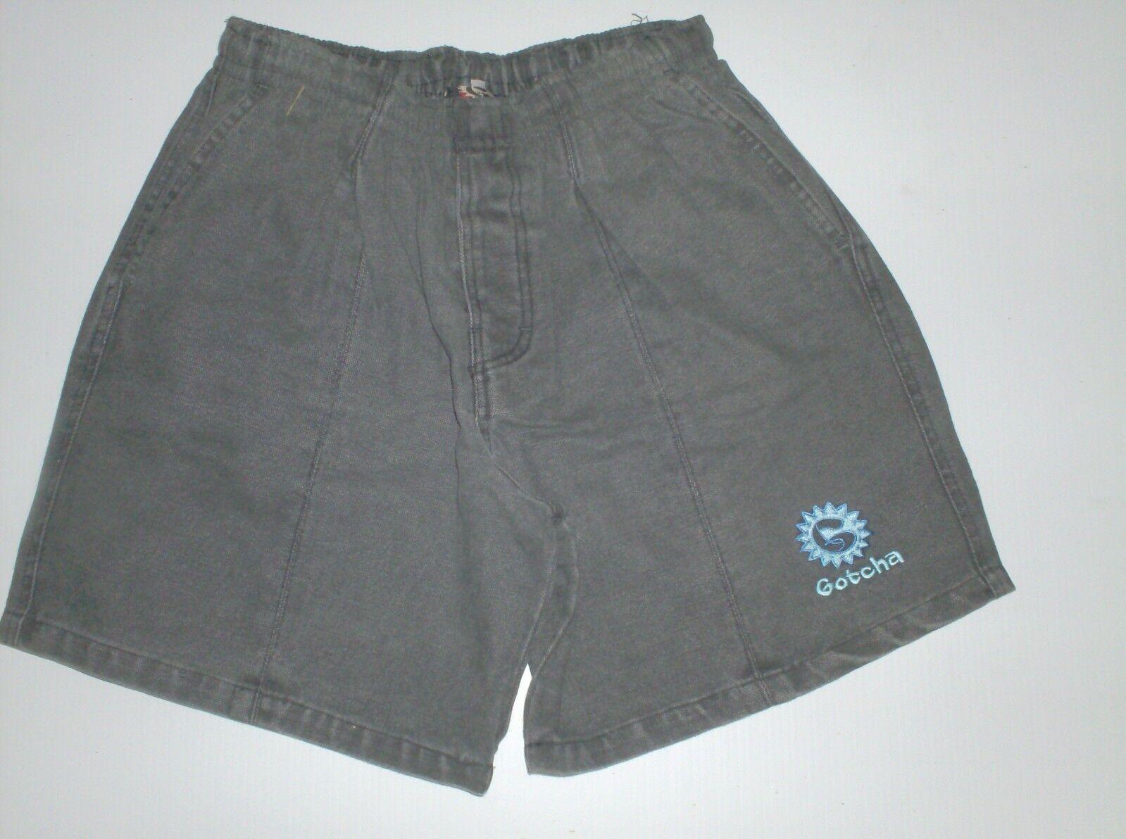 Elastic waist shorts vintage gotcha grey  1980  new , never used ... 32