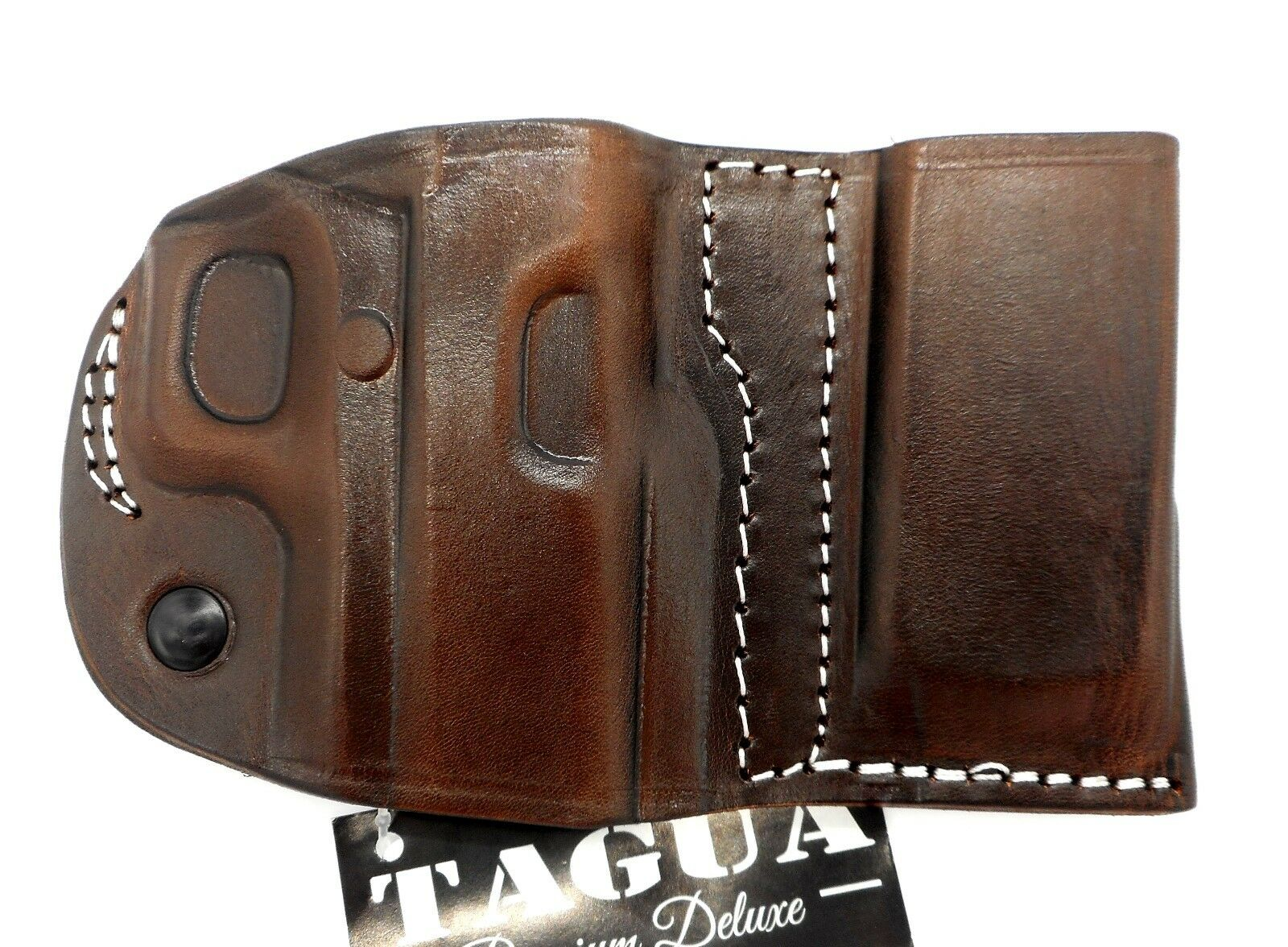 TAGUA Premium Brown Leather RH Belt Holster & Magazine Carrier SPRINGFIELD XDM