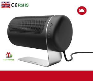 Portable Fan Heater Oscillating Ceramic Silent Electric 1500w Home Office Desk