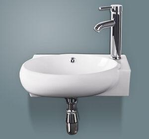 Corner Wall Mount White Bathroom Ceramic Basin Vanity Vessel Sink W