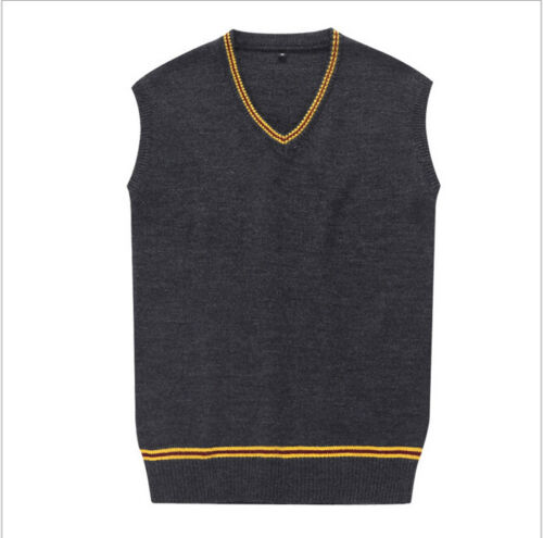 Man Harry Potter Pullover Vest Gryffindor Top Slytherin Ravenclaw  Coat Winter