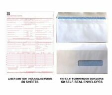 New CMS 1500 - HCFA Insurance Claim Forms and Self-Seal No. 10-1/2 Tinted Window